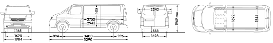 volkswagen bus drawing car blueprints volkswagen transporter t5 panel van lwb low roof