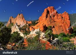 Rock Garden South by South Gateway Rock Formations White Rock Stock Photo 21232039