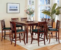 pub style dining room set newhouse warm cherry wood pub table set steal a sofa furniture