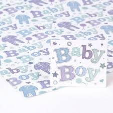 blue foil wrapping paper blue foil baby boy wrapping paper gift tag only 69p