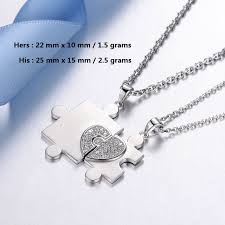 personalized jewelry for blue sweet necklaces personalized heart puzzle necklaces