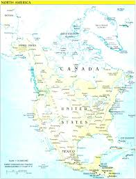 north american bodies of water map north america physical map of