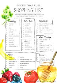 thanksgiving grocery list foods that fuel a shopping list move nourish believe