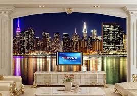 papier peint york chambre usa maisons gratte ciel rivières york city papier peint