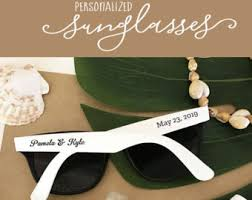 personalized sunglasses wedding favors wedding sunglasses etsy