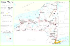 United States State Map by Clickable Map Of New York City Ny United States State Throughout