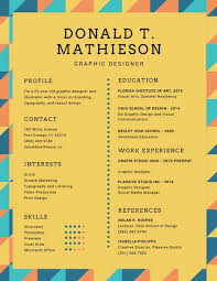 colorful triangles graphic designer creative resume templates by