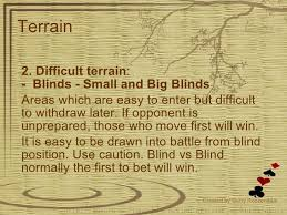 Small And Big Blind The Art Of War In Poker