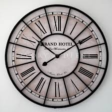 Oversized Clocks by Large Iron Wall Clock For Living Space U2013 Wall Clocks