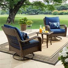 Patio Furniture From Walmart by Better Homes And Gardens Colebrook 3 Piece Outdoor Chat Set Seats