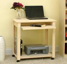 brilliant modern computer desk with glass table and side frame for