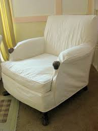 furniture white glider slipcover on cozy berber carpet and sure