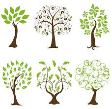 abstract tree design vector set 02 vector plant free