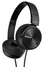 sony home theater headphones sony black noise canceling headphones mdr zx110nc