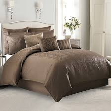 Damask Comforter Sets Manor Hill Sienna Damask Comforter Set In Mocha Bed Bath U0026 Beyond