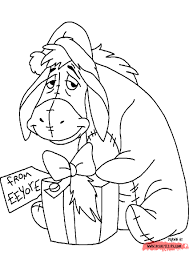 eeyore christmas coloring pages best images collections hd for