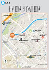 Denver International Airport Map Breweries In Walking Distance Of Denver U0027s Rtd A Line