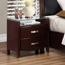 White Glass Top Bedroom Furniture Sophisticated Glass Top Nightstand Design Home Furniture
