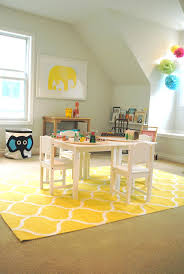 simple playroom with yellow trellis pattern area rugs ikea and
