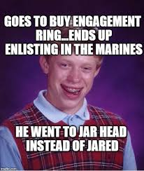bad luck brian goes to boot c imgflip