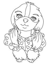 cute small dog coloring pages animal coloring pages
