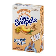 wyler s light singles to go nutritional information snapple diet snapple singles to go peach tea 6 ct from rouses