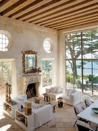 Decorative Beams French Living Room With Exposed Wooden Beams And High Valued