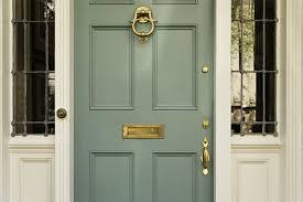 green front door for your fresh decor classy door design