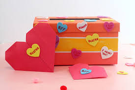 valentines mailbox diy s day mailbox and origami heart with