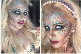 halloween siren or mermaid makeup tutorial youtube