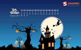 kiddie cartoon halloween background calendar wallpaper of the month 17021 calendar wallpaper