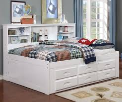 full size bookcase captains day bed in white 0223 kids and teens