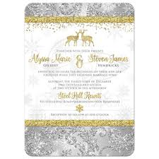 wedding invitation optional photo template silver gold white