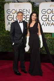black tie attire george and amal clooney wear black tie attire to the golden globes