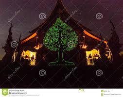 unseen fluorescent tree temple stock photo image 55057954
