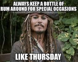 Rum Meme - jack sparrow rum meme birthday sparrow best of the funny meme