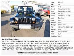 jeep wrangler prices by year jeep used cars bad credit auto loans for sale onsted d d auto