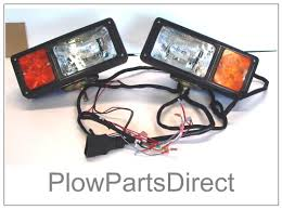 western snow plow lights 12 pin unimount 64078 headlight