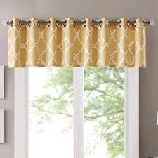 Yellow Kitchen Curtains Valances Yellow Gold Valances Kitchen Curtains You Ll Wayfair