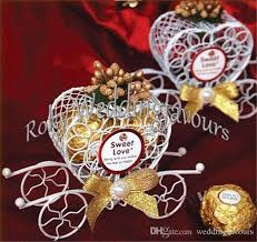 Heart Shaped Candy Boxes Wholesale Iron Heart Carriage Candy Boxes With Different Color Flowers