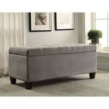 Grey Tufted Storage Ottoman Lennon Pine Square Storage Ottoman Coffee Table By Tribecca Home