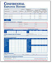 employment history form and record keeping forms