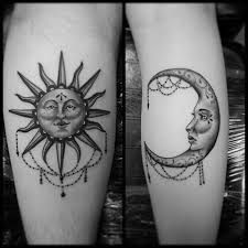 19 best unique moon tattoos images on moon tattoos
