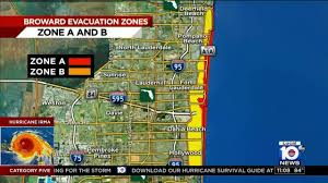 Fort Lauderdale Map Mandatory Evacuations Ordered For Portions Of Broward County