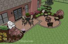 Simple Brick Patio With Circle Paver Kit Patio Designs And Ideas by Square Patio With 2 Circle Paver Kits Patio Design U0026 Ideas