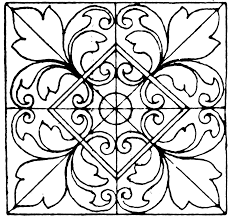 Moorish Design by Moorish Tiles Square Panel Clipart Etc