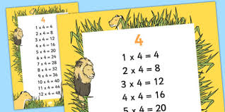 3 and 4 times table 4 times table display poster displays posters visual aids