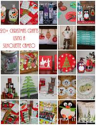 keeping it simple 23 christmas crafts to do with a silhouette