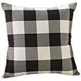Black Sofa Pillows by Amazon Com Black Decorative Pillows Inserts U0026 Covers Bedding