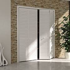 Closet Doors Louvered Bi Fold Closet Door Louver Louver Plantation White 36x80